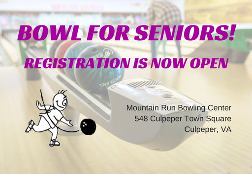 Bowl for Seniors Registration Open announcement
