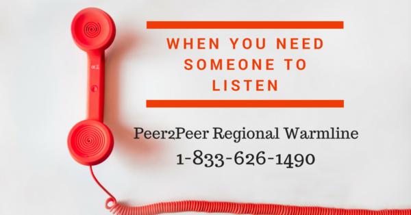 Regional Peer2Peer Warmline Header